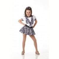 ABC Plaid School Girl Tap Ice Skating Dress Dance Costume Child X-Small 2-3yr