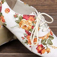 Flower Flat  shoes from guipure