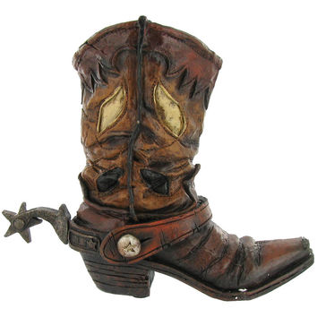 Brown Cowboy Boot Vase | Hobby Lobby | 390039