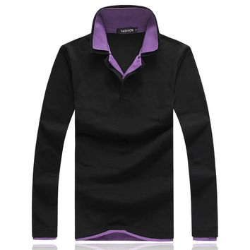 double layer collar Men's polo shirt