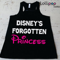 Desney's  Forgotten Princes Gym Workout Running Tank.Crossfit Women. Exercise boot camp Tank top. Funny Sexy. Racer Back. Walt Disney parody
