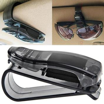2017 hot Car Sun Visor Glasses Sunglasses Ticket Receipt Card Clip Storage Holder clamp drop ship sale