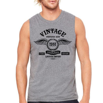 Vintage Perfectly Aged 1981 Muscle Tank