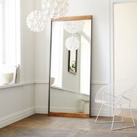 Industrial Metal + Wood Floor Mirror