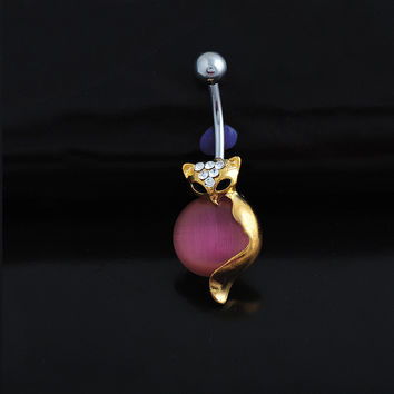New Charming Dangle Crystal Navel Belly Ring Bling Barbell Button Ring Piercing Body Jewelry = 4804887492