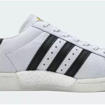 PEAPON ADIDAS SUPERSTAR BOOST WHITE/BLACK/GOLD BB0188 MEN TRAINERS SIZE U.K 7-10.5