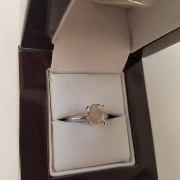 1.28 Carat H Diamond Engagement Ring 14K Solitaire Anniversary Bridal Appraisal Jewelry Looks Great!! Huge Size Low Price!  Hurry!