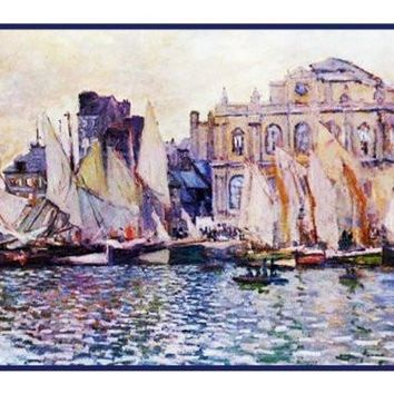 Le Havre Museum inspired by Claude Monet's impressionist painting Counted Cross Stitch or Counted Needlepoint Pattern