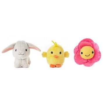 Happy Go Luckys Springtime Mini Stuffed Animals, Set of 3