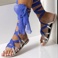 """Luxurious sandals, Formal leather sandals with silk laces,, Custom Color """"Ophelia"""" NEW SS17 - Free standard shipping"""