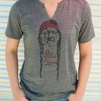 "Gina ""Willie Nelson"" Grey Slub Tee (Options)"