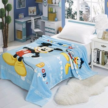 Mickey Mouse Soft Flannel Blanket Throw