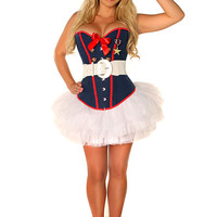 Sexy Marine Costume - 4pc Women's Costume
