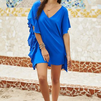Malai Swimwear Monarch Cover Up - French Blue