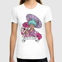 No Tea No Shade Sassy Feminist Bey Geisha Kawaii Print T-shirt by BigKidult | Society6
