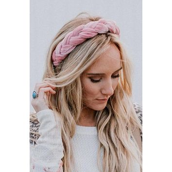 Mollie Twist Headband - Blush