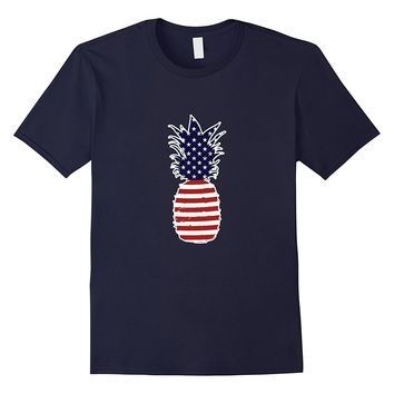 Pineapple Flag Tshirt Independence Day Shirt Fourth of July