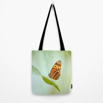 Butterfly Love Tote Bag by Tanja Riedel