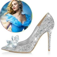 Stiletto Cinderella Crystal Shoes