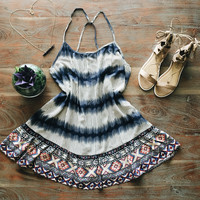 An Aztec Open Back Sundress