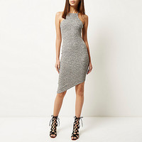 Grey bodycon asymmetric dress - bodycon dresses - dresses - women