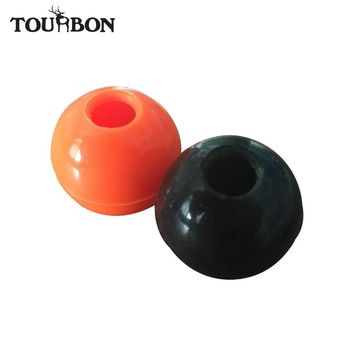 Tourbon Rifle Bolt Handle Knob Rubber Ball for Shooting Grip Cover Water Resistant Hunting Gun Accessories Black & Orange 2Pcs