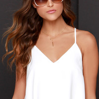 Into the Airwaves Ivory Crop Top