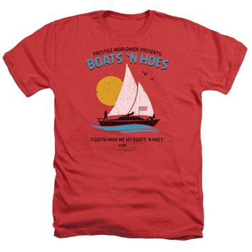 Step Brothers Heather T-Shirt Boats N Hoes Red Tee