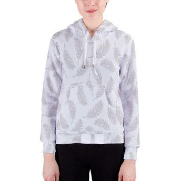 my grey feathers Women's Pullover Hoodie
