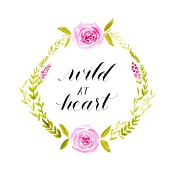 Wild at Heart - flowers Art Print by Sarah Script