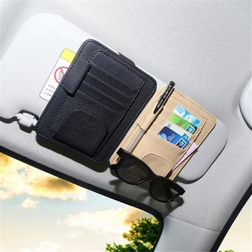 High quality Car Sun Visor Glasses Sunglasses Ticket Receipt Card Clip Storage Holder