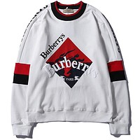 Burberrys Women or Men  Fashion Casual Loose Top Sweater Pullover