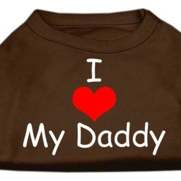 ONETOW I Love My Daddy Screen Print Shirts Brown XS (8)