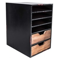 Black Paper Organizer with Compartments & Drawers | Shop Hobby Lobby