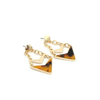 Fashion Gold Plated Geometric Stud Earrings by Fashnin.com