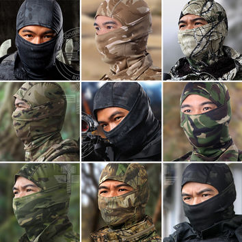 Multicam Balaclava Realtree Camouflage Tactical Paintball Wargame Military Army Helmet Protection Full Face Mask