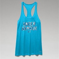 Under Armour Charged Cotton Wordmark Tank for Women 1258865-458
