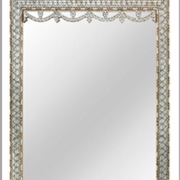 Syrian Mother-of-pearl and Bone Inlay Mirror