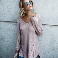 Backless Knit Sweater