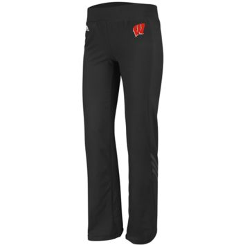 adidas Wisconsin Badgers Womens Training Pants - Black