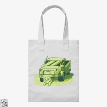 Mew Under The Truck, Pokemon Tote Bag