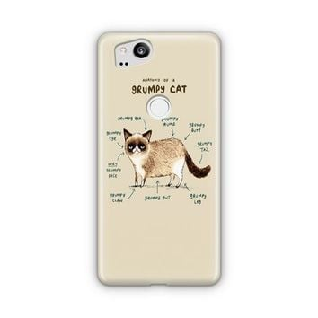 Anatomy Of A Grumpy Kitty Google Pixel 3 XL Case | Casefantasy