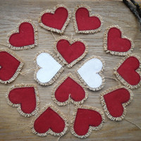 Wedding Favor Linen Heart Favor Bridal Shower Favor Love Favor Party Favor Heart Decor Wedding Decor Valentine Favor