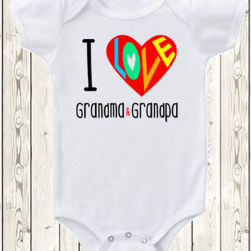 pregnancy announcement idea Onesuit ® brand bodysuit or shirt for grandma and grandpa, custom names available, new baby shirt