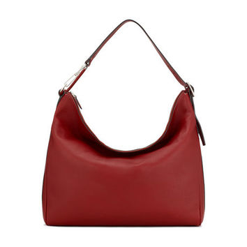 Women's red leather hobo bag | CLIPPER MEDIUM | Bally Hobos