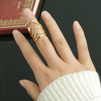 V Shape Punk Rings Tail Ring AnaeCadeau Gift-203