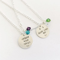 Monsters Inspired Best Friend Necklace Set