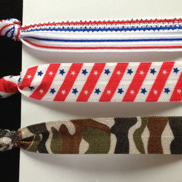 Proud American Elastic Hair Ties (and bracelets) Collection