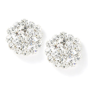 Crystal Flowerburst Stud Earrings