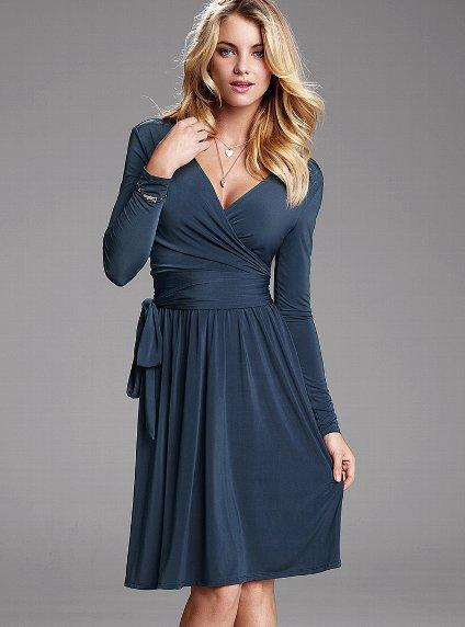 Full-skirt Wrap Dress - Victoria's Secret